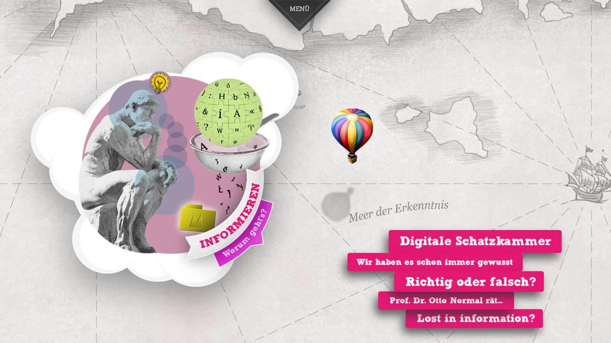 Terra Digitalis - Website für DFG - Informieren