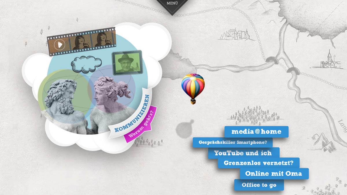 Terra Digitalis - Website für DFG - Kommunizieren