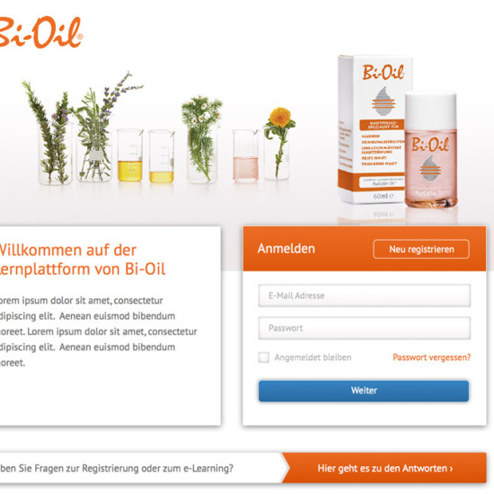 Bi-Oil e-Learning Startseite
